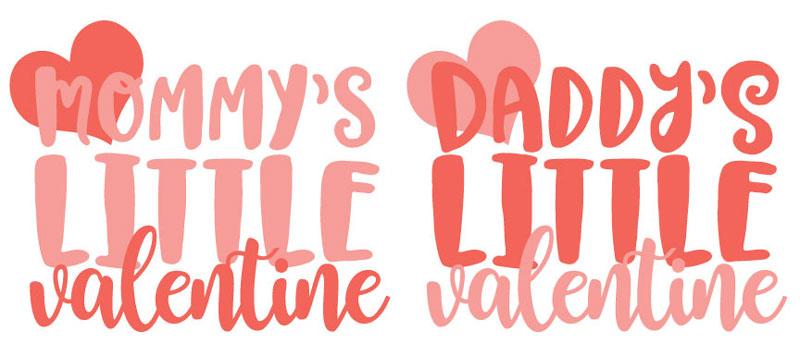 Mommy's Little Valentine onesies