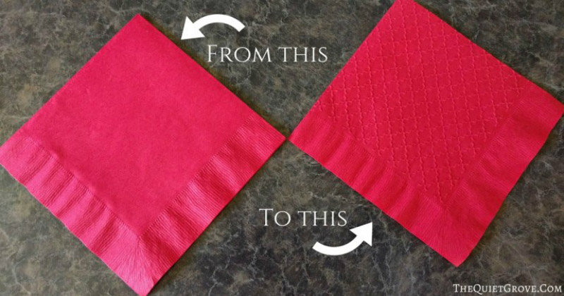 Embossed party napkins