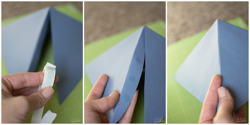 Finish folding the pieces of your geometric backdrop