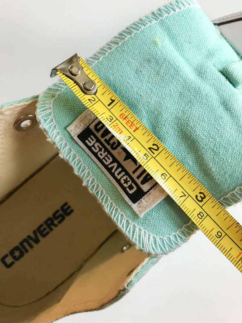 Measure the spaces on your shoes