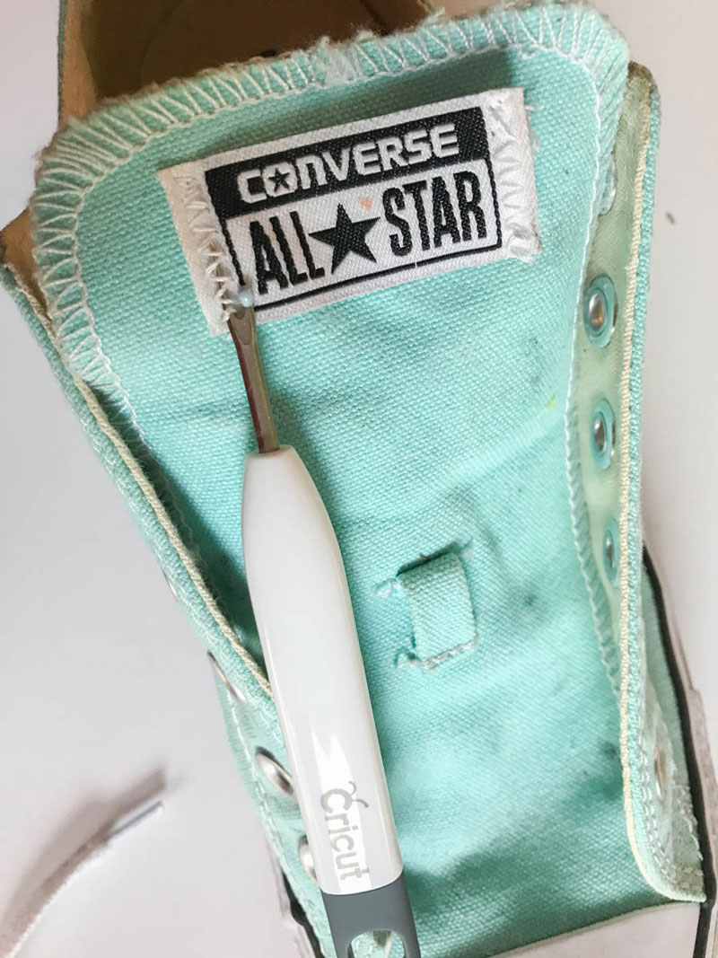 Remove the tags on your Chucks