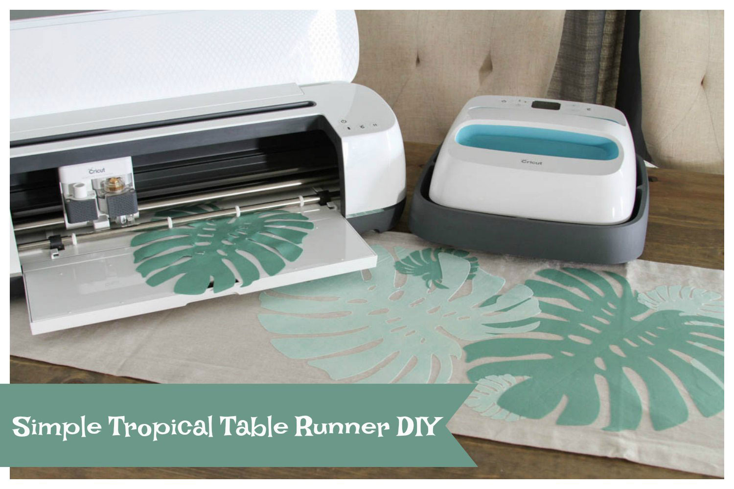Fabric appliques with the Cricut Maker