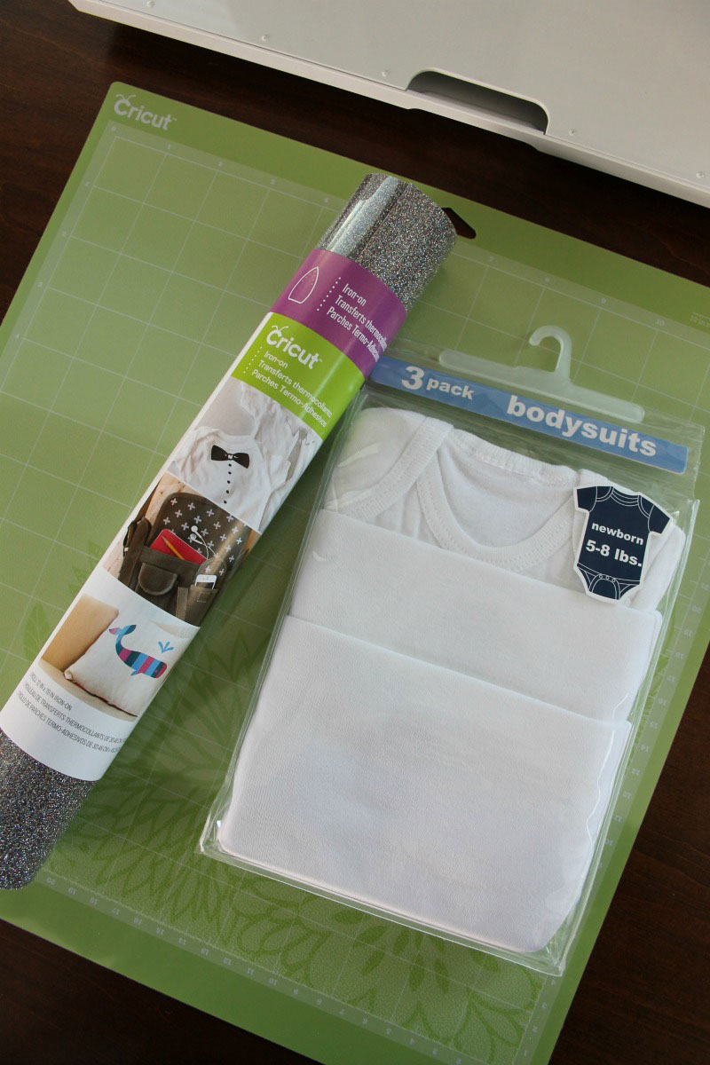 Supplies for easy iron-on onesie