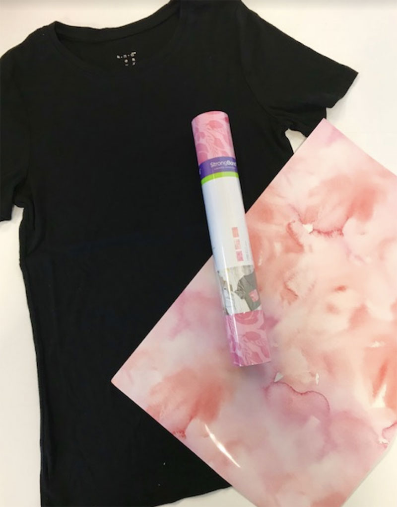 Supplies to make your It Girl shirt