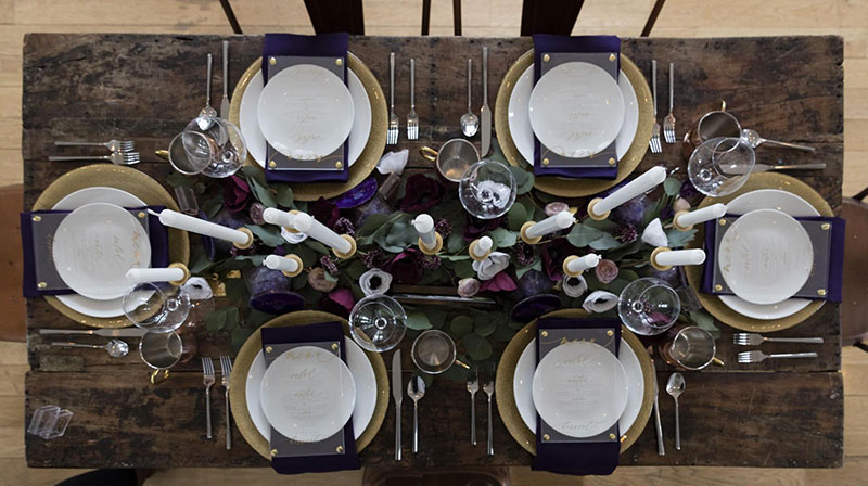 Beautiful tablescape decorated using a Cricut Maker