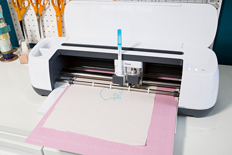 Let the Cricut draw your embroidery pattern