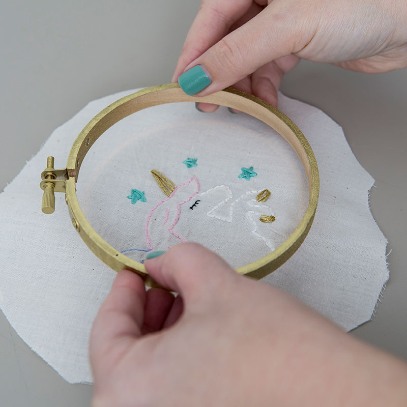 Finish your embroidery project