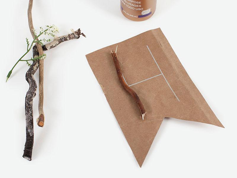 2: Glue Flora to Banner Pieces