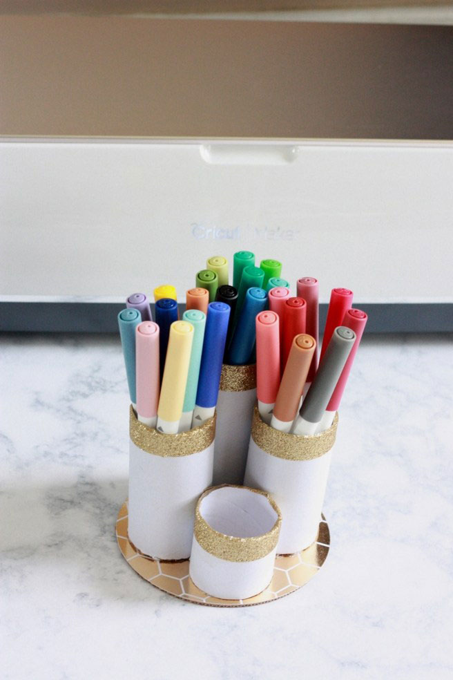 You can upcycle your tube into a pen holder