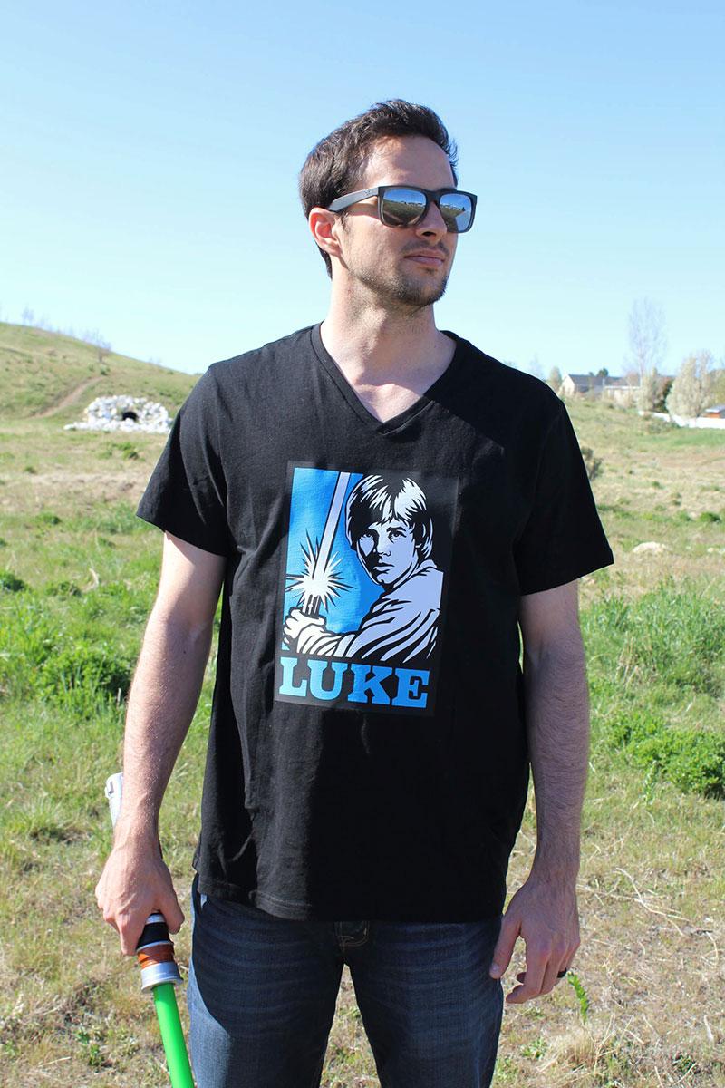 Finished Star Wars shirt