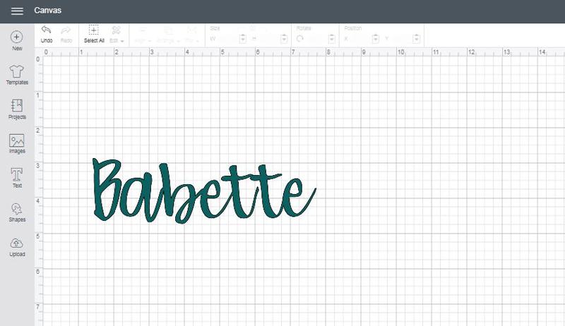 Babette font