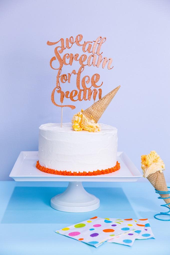 We All Scream for Ice Cream Topper