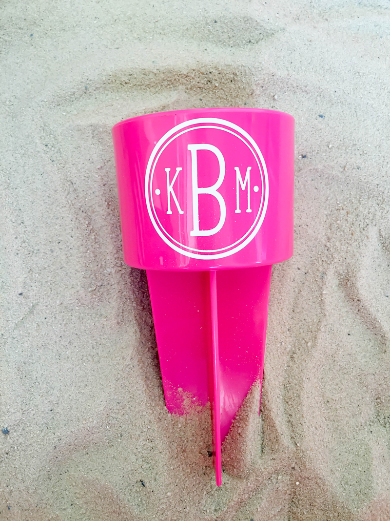 Monogrammed Beach Spiker by Kayla Makes