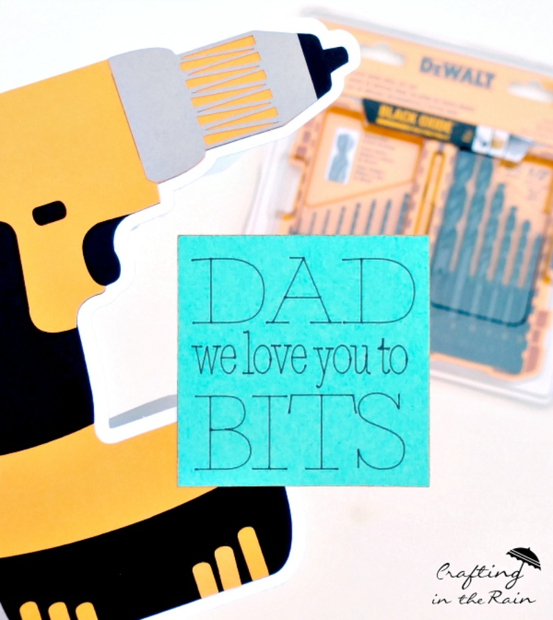 Dad We Love You to Bits Card@ Crafting in the Rain