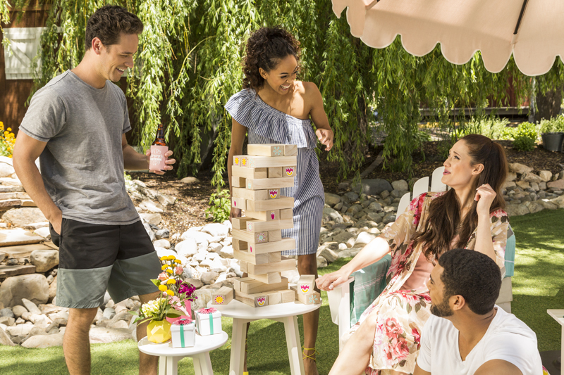 DIY Tumbling towers game