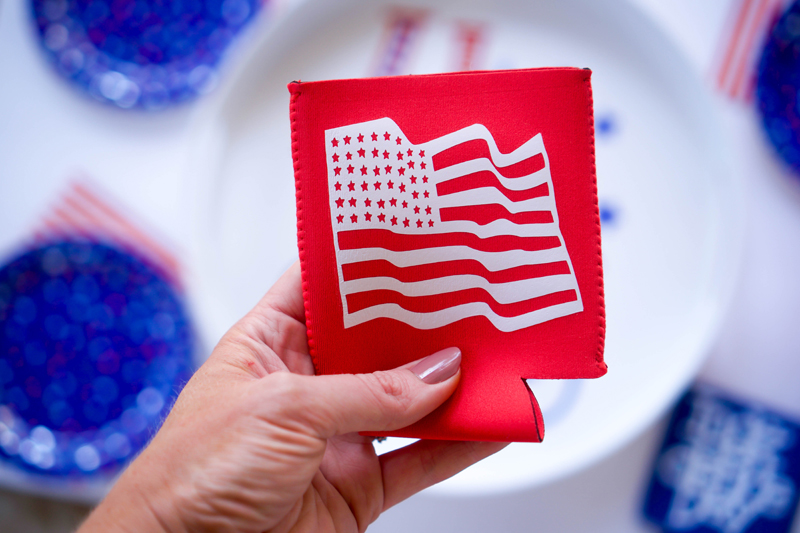 Patriotic Party Tray With Vinyl