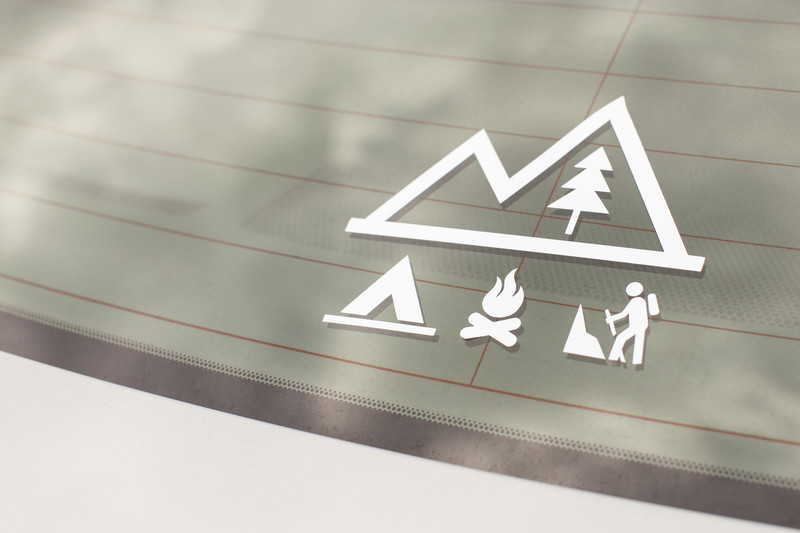 Car Camping Decal