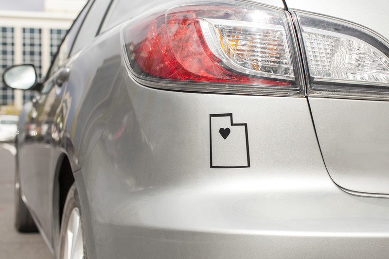 I Heart Utah Car Decal