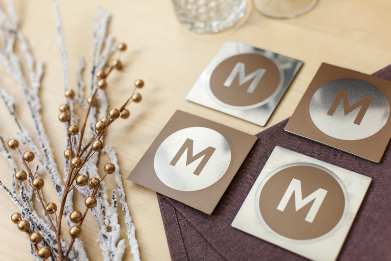 Metal Monogram Coasters