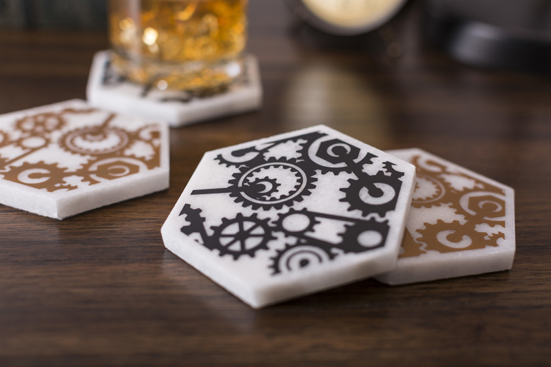 Steampunk coasters