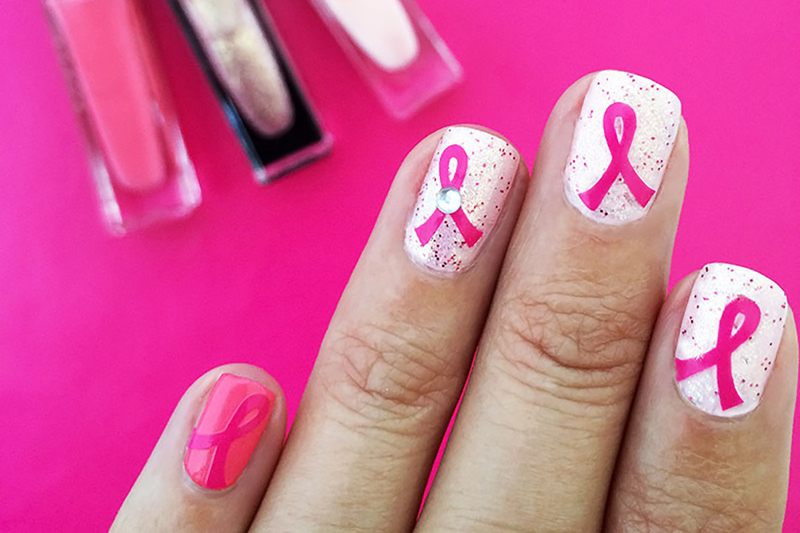 Ribbon Support Nail Art