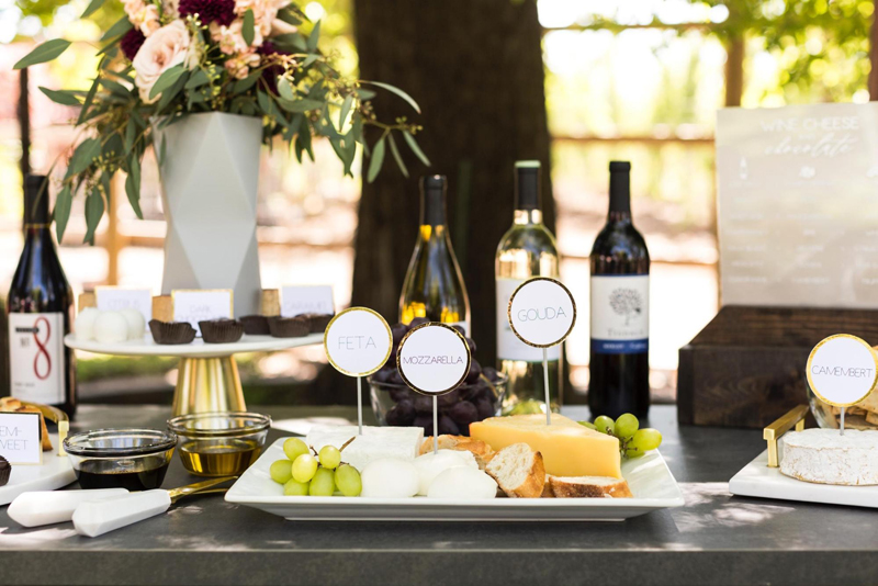 Wine, Cheese, and Chocolate: Tablescape and Wine Bar