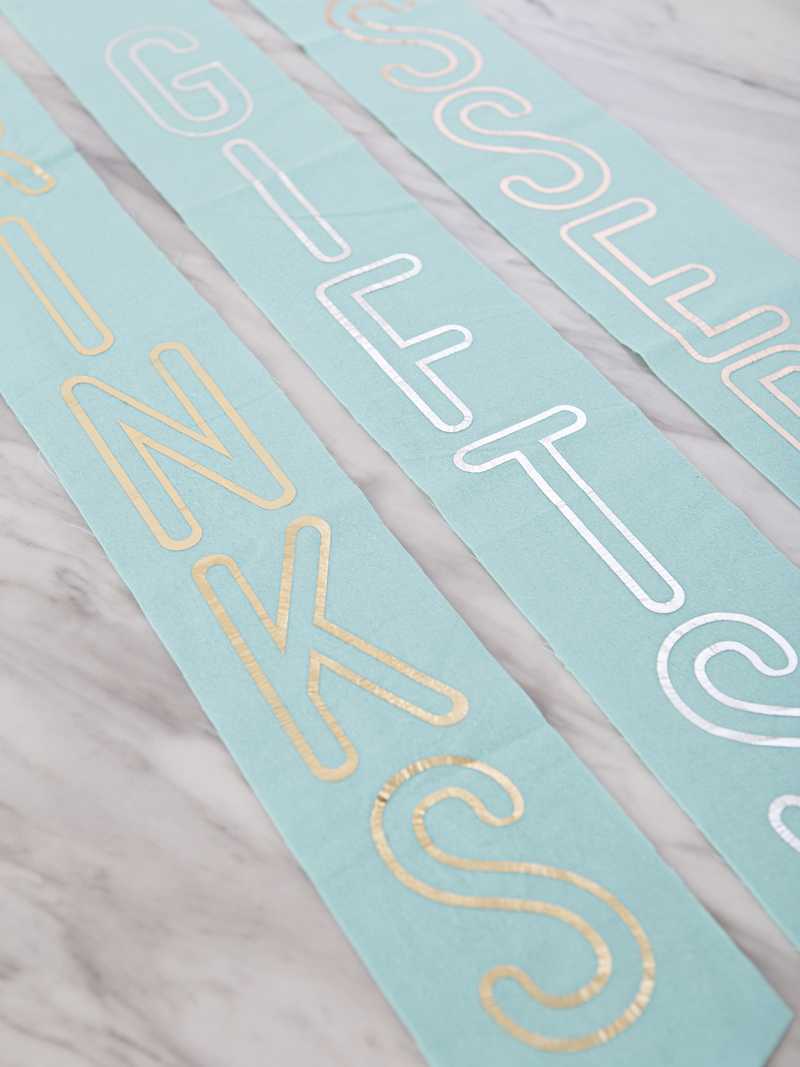 DIY Fabric Iron-on Banners