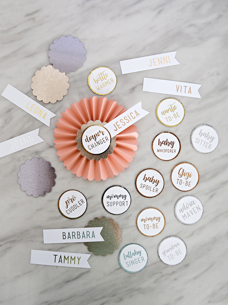 DIY Rosette Name Tags