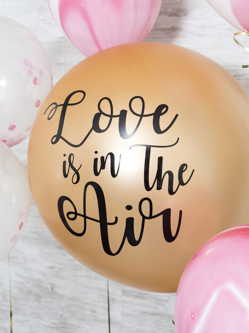 DIY Vinyl Balloon Signs