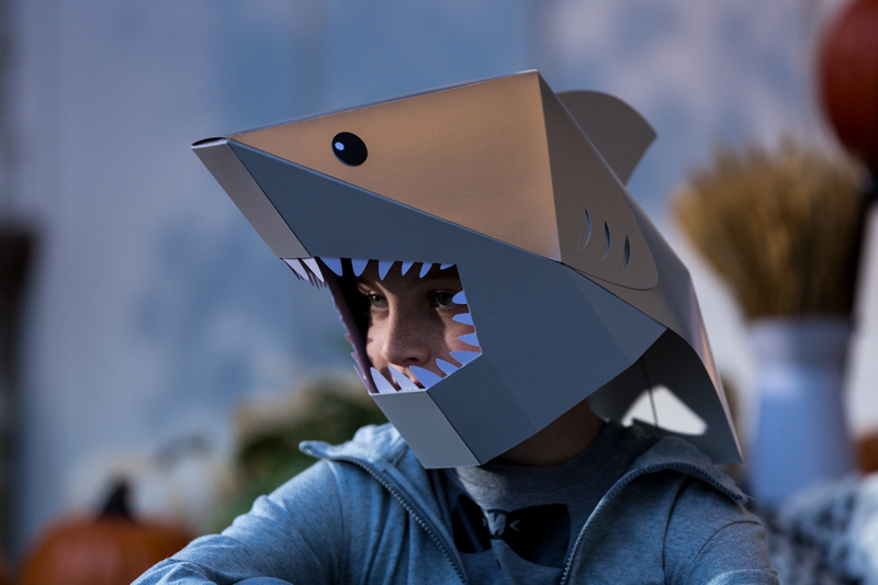 DIY Poster Board Shark Head