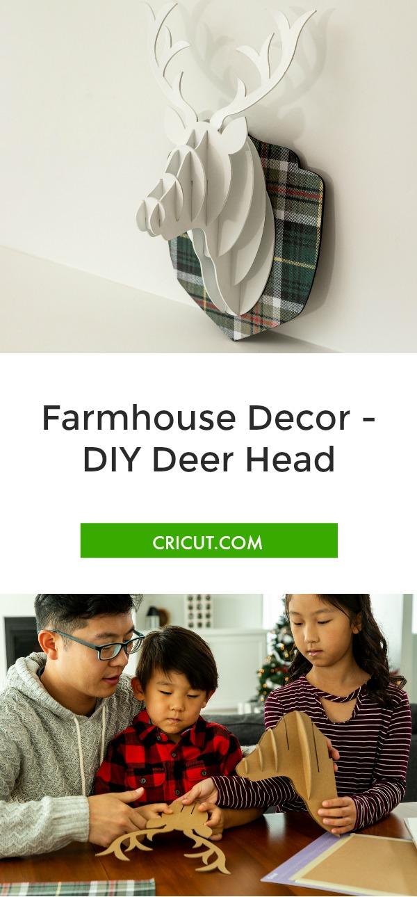 DIY Chipboard Deer Head