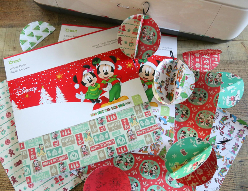 DIY Mickey & Friends 3D Paper Ornaments