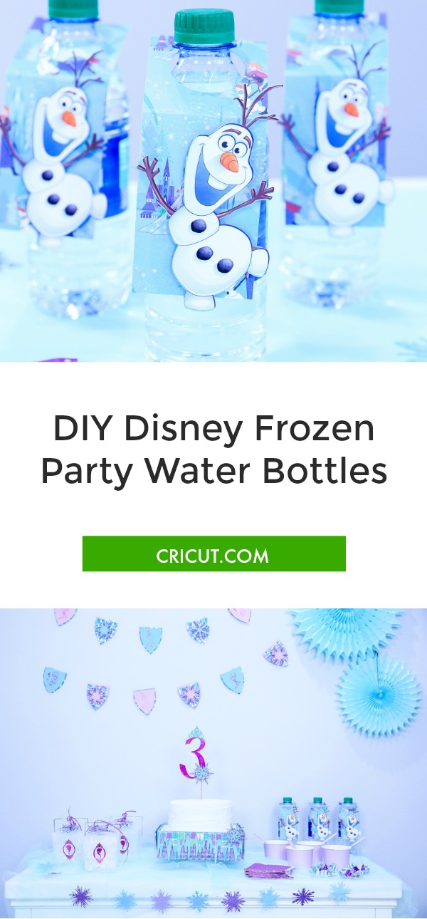 Disney Frozen party, Disney Frozen water bottle, disney party
