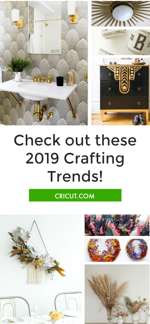 2019 trends, design trends, 2019 craft trends, craft trends, crafting trends