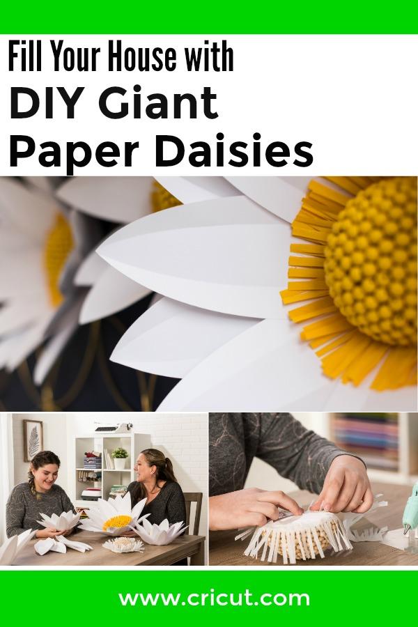 DIY Giant Paper Daisies