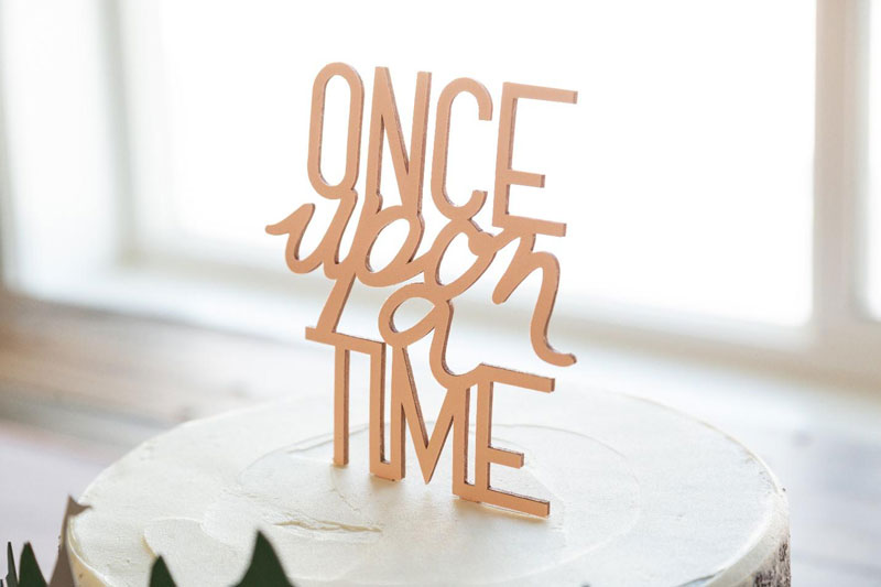 Once Upon a Time Cake Topper and Storybook Forest Cake Ring