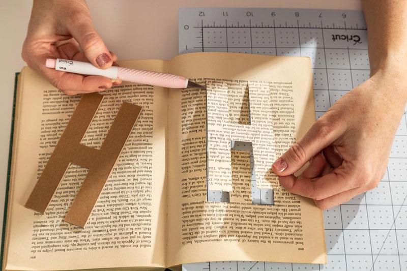 DIY Book Letters Name Display