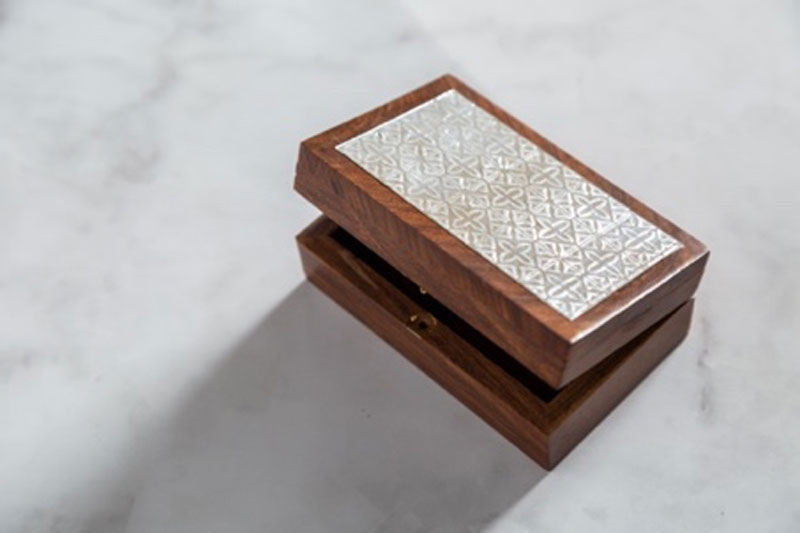 Jewelry Box Decorated by the Cricut Maker Fine Debossing Tool