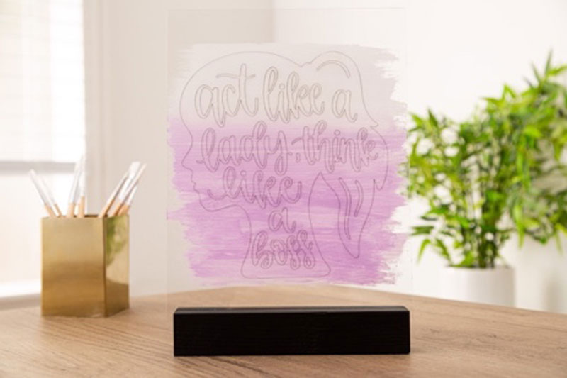 Act Like a Lady Project Using the Cricut Maker Engraving Tip