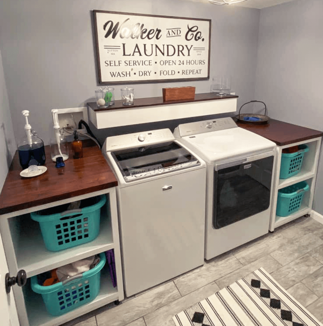 Custom laundry room sign with vinyl
