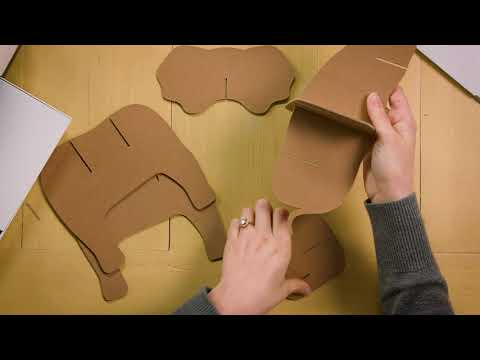 Embedded thumbnail for How to Create a Chipboard Elephant – Assembling the Elephant