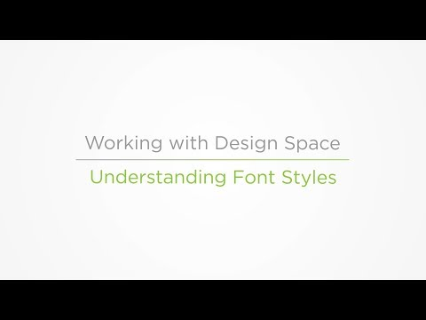 Embedded thumbnail for Understanding Font Styles - Working With Design Space